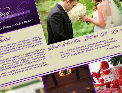 Fantasy Affair Event and Wedding Planning Web Design